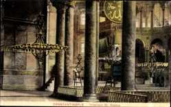 Postcard Konstantinopel Istanbul Türkei, Interieur St. Sophie, Kirche, Innenansicht