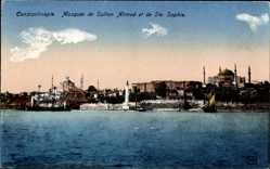 Postcard Konstantinopel Istanbul Türkei, Mosquee de Sultan Ahmed et de Ste. Sophie