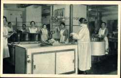 Postcard Wittenberge in der Prignitz, Singer Nähmaschinen, Werksküche