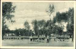 Postcard Wittenberge in der Prignitz, Singer Nähmaschinen, Lehrlings Sportabteilung