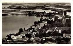Postcard Feldberg Feldberger Seenlandschaft, Blick auf den Ort, Fliegeraufnahme