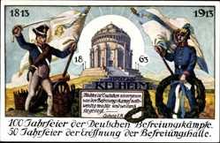 Litho Kelheim a. d. Donau,100 Jahrfeier der Dt. Befreiungskämpfe,Befreiungshalle