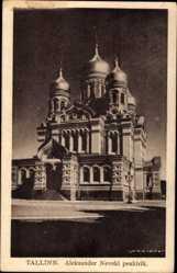 Postcard Tallinn Reval Estland, Aleksander Nevski peakirik, Kirche, Zwiebeltürme