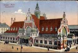 Postcard Essen im Ruhrgebiet Nordrhein Westfalen, Hauptbahnhof, Straßenseite