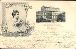 Postcard Hannover in Niedersachsen, Königl. Theater, Sopranistin Anny Thomas Schwartz