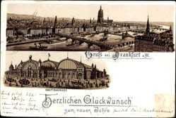 Vorläufer Litho Frankfurt am Main, Hauptbahnhof, Straßenseite, 1893