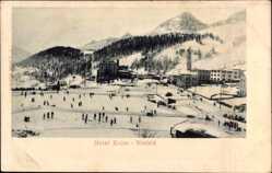 Ak St. Maurice Sankt Moritz Kt. Graubünden, Hotel Kulm, Eishockey; Eisfeld