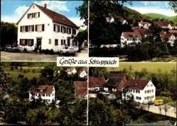 Postcard Weiler Schuppach Untersteinbach Pfedelbach, Pension Schuppachtal, Klotz