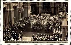 Postcard König Friedrich August III. von Sachsen, Trauerfeier 23 02 1932, Hahn 9678