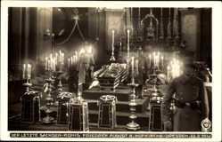 Ak König Friedrich August III. von Sachsen, 22 02 1932, Sarg,Hofkirche,Hahn 9664