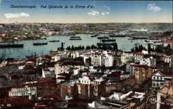 Postcard Konstantinopel Istanbul Türkei, Vue generale de la Corne d'Or