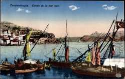 Postcard Konstantinopel Istanbul Türkei, Entree de la mer noir, Segelboote