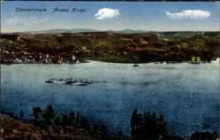 Postcard Konstantinopel Istanbul Türkei, Anadol Hissar, Flusspartie, Berge