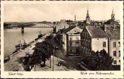 Ak Tilsit Sowetsk Kaliningrad Ostpreußen, Blick vom Hafenspeicher