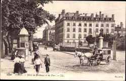 Ak Lyon Rhône, Hôtel de Bordeaux et du Parc, Pferdekutsche