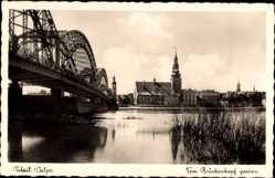 Ak Tilsit Sowetsk Kaliningrad Ostpreußen, Blick vom Brückenkopf gesehen