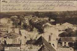 Foto Ak St. Souplet Nord, Blick vom Kirchturm, Zerstörte Ortschaft