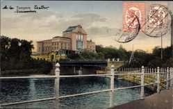 Postcard Tampere Tammerfors Westfinnland, Gebäude, Brücke, Flusspartie