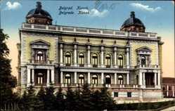 Postcard Belgrad Serbien, Konak, Ansicht vom Wohnheim