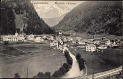 Postcard Mallnitz Kärnten Österreich, Tauernbahn, Gleise, Ort im Tal, Fluss