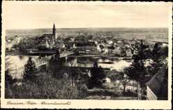 Postcard Krosno Odrzańskie Crossen Oder Ostbrandenburg, Gesamtansicht