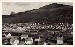 Foto Ak Narvik Norwegen, Panorama der Stadt, Schleuse im Bau