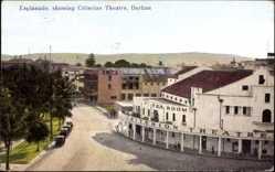 Postcard Durban Südafrika, Esplanade, showing Criterion Theater, Theater