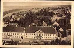 Postcard Jelgava Mitau Lettland, Adelsklub aus der Vogelschau