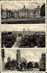 Postcard Münster in Westfalen, Schloss, Marienplatz, Gesamtansicht