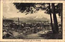 Postcard Traunstein in Oberbayern, Blick von der Weinleite auf den Ort