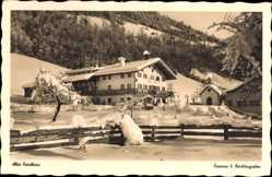 Postcard Ramsau im Berchtesgadener Land Oberbayern, Altes Forsthaus im Winter
