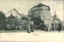 Postcard Goslar in Niedersachsen, Hotel Achtermann von außen