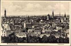 Postcard Braunschweig in Niedersachsen, Panoramablick auf den Ort