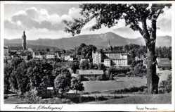Postcard Traunstein in Oberbayern, Blick auf den Ort und die Umgebung