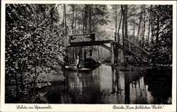 Postcard Lehde Lübbenau im Spreewald, Brücke Zum fröhlichen Hecht, Ernst Kirchner