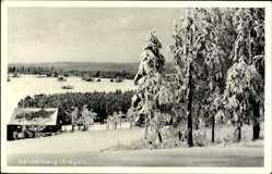 Postcard Heidelberg Seiffen im Erzgebirge, Verschneite Ortschaft