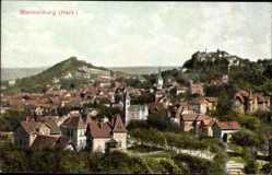 Postcard Blankenburg am Harz, Blick über die Dächer der Stadt