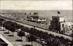 Postcard Ostseebad Bansin Heringsdorf auf Usedom, Die Strandpromenade
