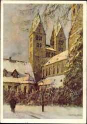 Künstler Ak Gemm, Walter, Halberstadt in Sachsen Anhalt, Liebfrauenkirche