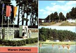 Postcard Waren an der Müritz, Zentrales Pionierlager La Pasionaria am Feißnecksee