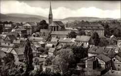 Postcard Heiligenstadt im Eichsfeld, Blick zur Kirche, Teilansicht der Ortschaft