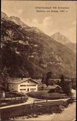 Postcard Unterleutasch Leutasch Tirol, Arnspitze, Gasthaus zur Brücke