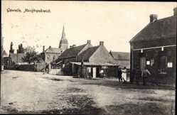 Postcard Gavrelle Pas de Calais, Straßenpartie, Markt, Kirche, Wohnhäuser