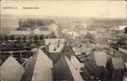 Postcard Ghistelle Gistel Westflandern, Algemeenzicht, Vogelschau, Hausdächer
