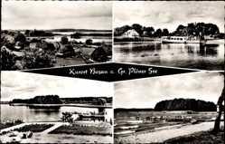 Postcard Bosau Großer Plöner See, Kurort, Strand, Steg