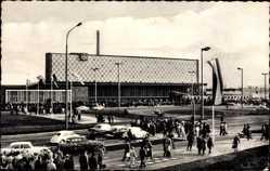 Postcard Braunschweig in Niedersachsen, Blick zum Hauptbahnhof, Verkehr
