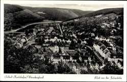 Postcard Bad Karlshafen an der Oberweser Hessen, Blick von der Juliushöhe