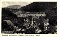 Postcard Bad Grund im Harz, Blick vom Eichelberg auf den Ort
