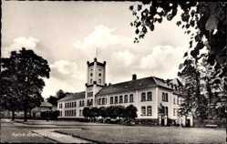 Postcard Aurich in Ostfriesland, Regierung, Schloss, Turm