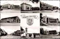 Wappen Ak Lebenstedt Salzgitter in Niedersachsen, Kaufhaus Hertie, Hochhaus
